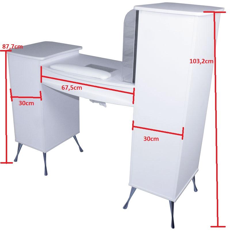1920 manik retisch m absaugung und led rack laminat wei kaufen bei. Black Bedroom Furniture Sets. Home Design Ideas