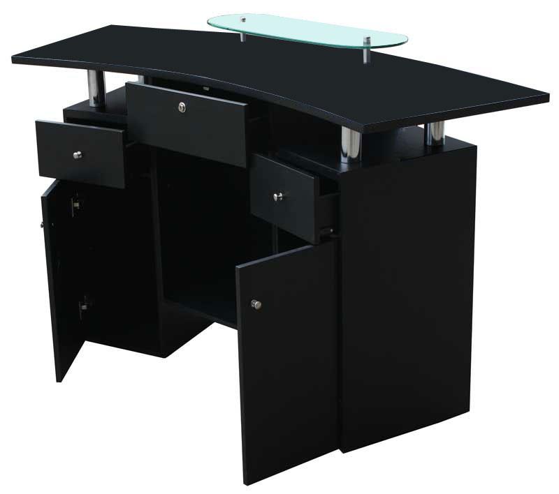 1465 rezeption laminat schwarz schwarz. Black Bedroom Furniture Sets. Home Design Ideas