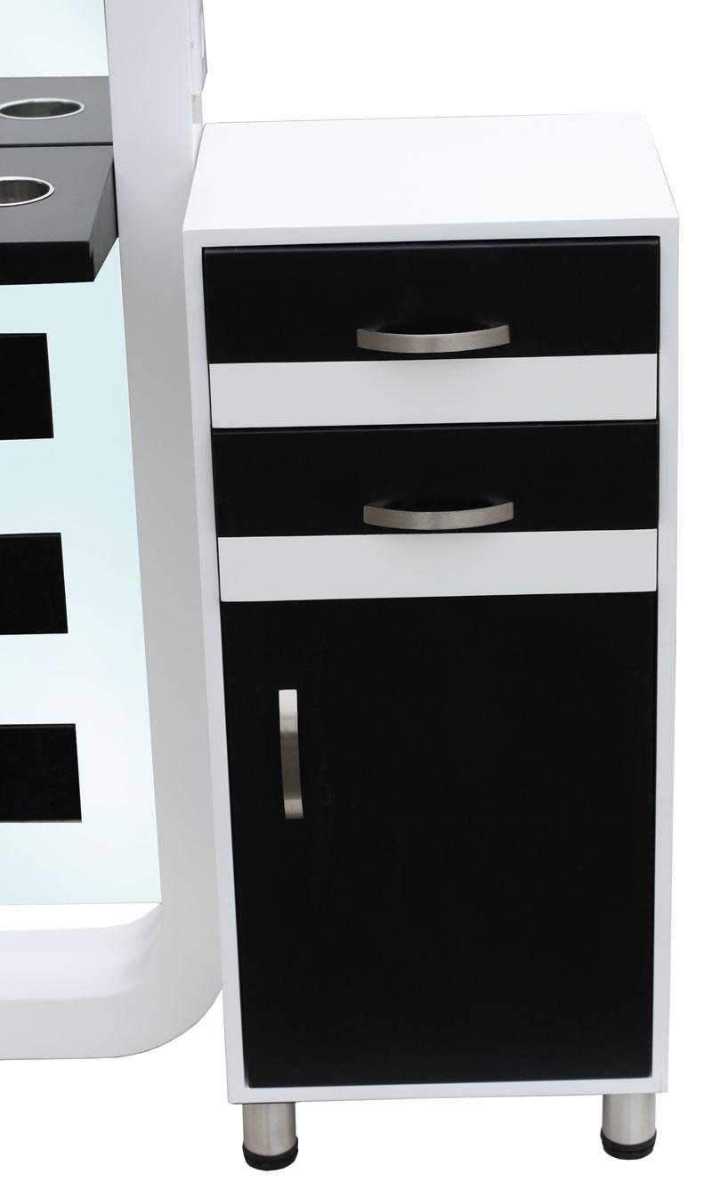 1910 spiegel cassino einseitig wei schwarz schr nkchen wei schwarz. Black Bedroom Furniture Sets. Home Design Ideas