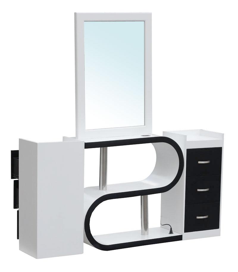 1913 spiegel barletta doppelseitig wei schwarz lenando. Black Bedroom Furniture Sets. Home Design Ideas