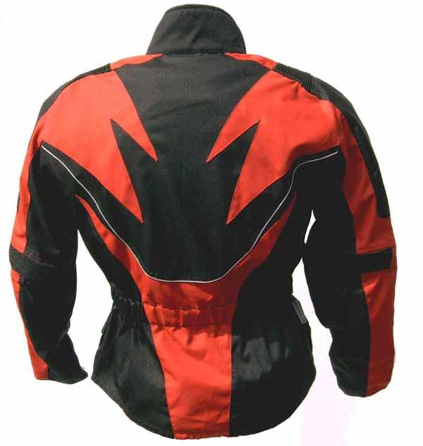 Tourenjacke Flame schwarz/rot vorn