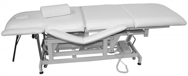 1600 elektrische Behandlungsliege 3-teilig weiß