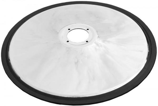 2049 Sockelscheibe 4-Loch rund gewölbt 68 cm mit Gummiring