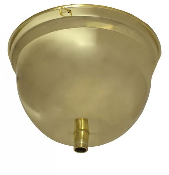 2078 Ayurveda-Ölgussbehälter Shirodhara 3,5 Liter gold