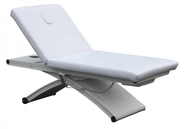 1273 elektro Massageliege X-Wing Sockel weiß Bezug weiß
