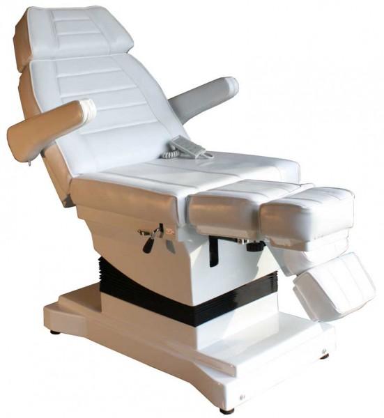 1444 Luxus-Fußpflegestuhl elektrisch weiß 3 Motoren