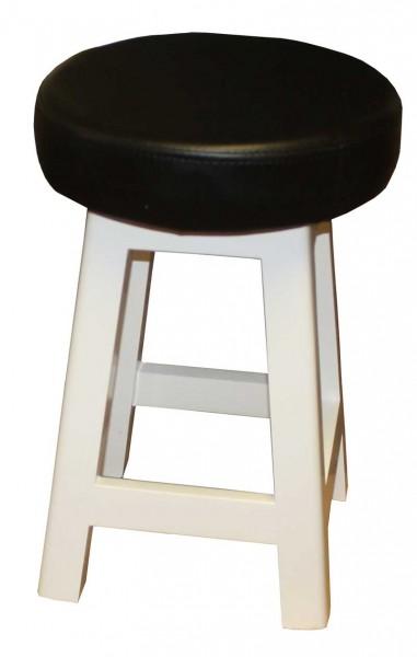 1332 Bedienhocker Sockel weiß Sitz schwarz