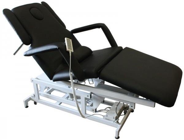 1600 elektrische Behandlungsliege 3-teilig mit Heizung schwarz