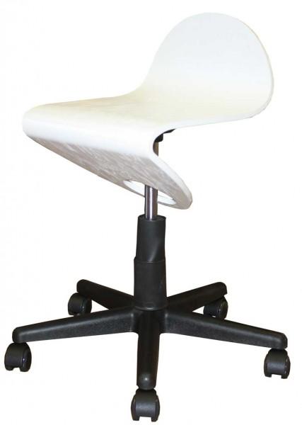 1333 Bedienhocker Sockel weiß Sitz weiß