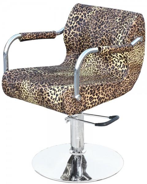 1878 Friseurstuhl FINALE Leopard-natur