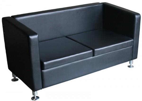 1771 Wartesofa 2-Sitzer schwarz
