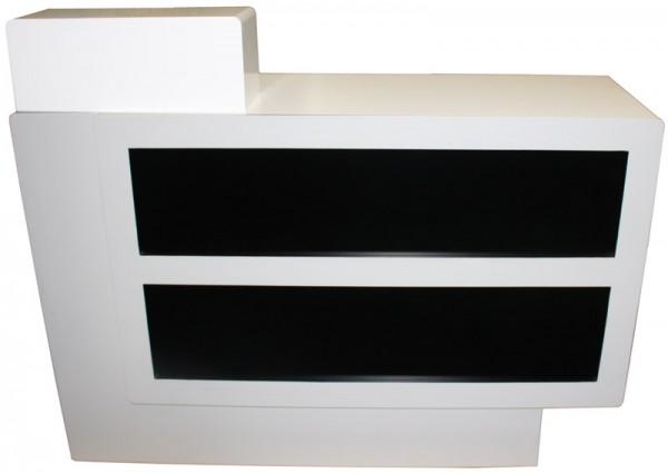 1918 Rezeptionstresen Schleiflack weiß / Front schwarz