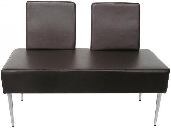 EINZELSTÜCK 1200 Sitzbank mit Lehnen braun B1 0331